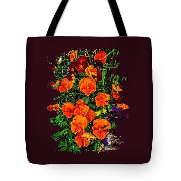 Fall Pansies Tote Bag