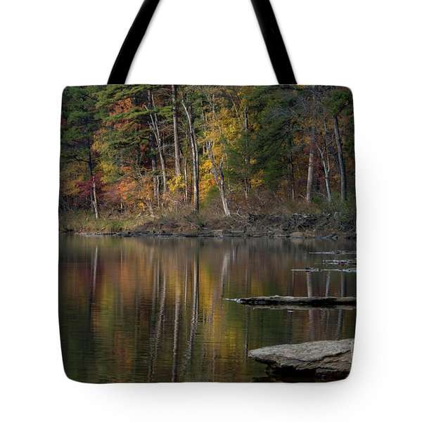 Tote Bag featuring the photograph Fall Reflections by Joe Sparks