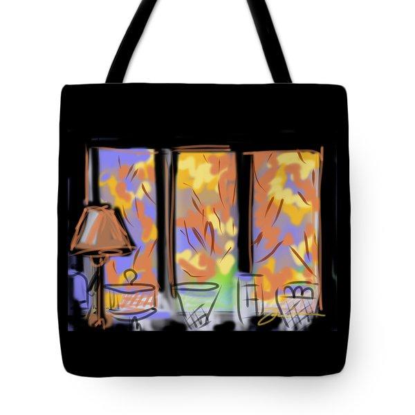 Fall Windows Tote Bag