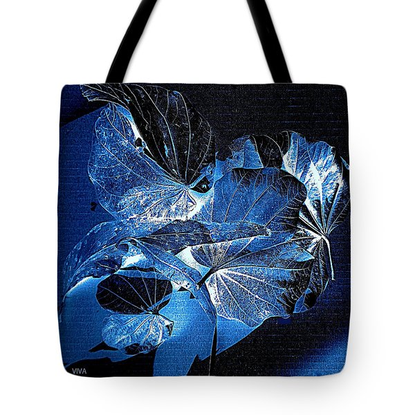 Tote Bag featuring the photograph Fallen Leaves At Midnight by VIVA Anderson