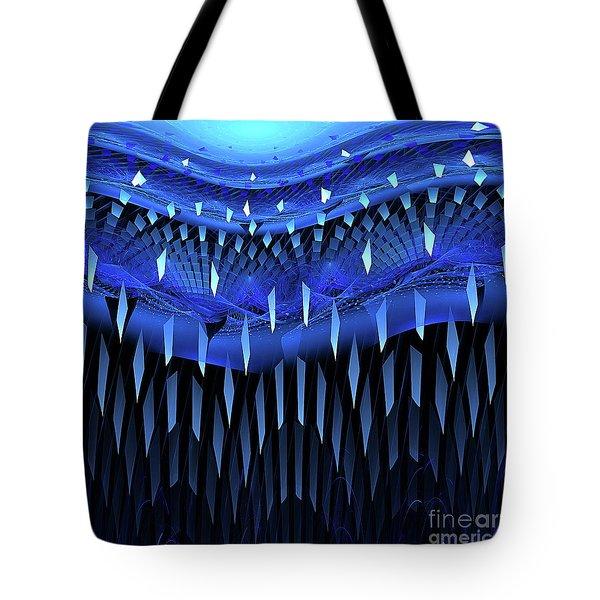 Falling Blue Tote Bag