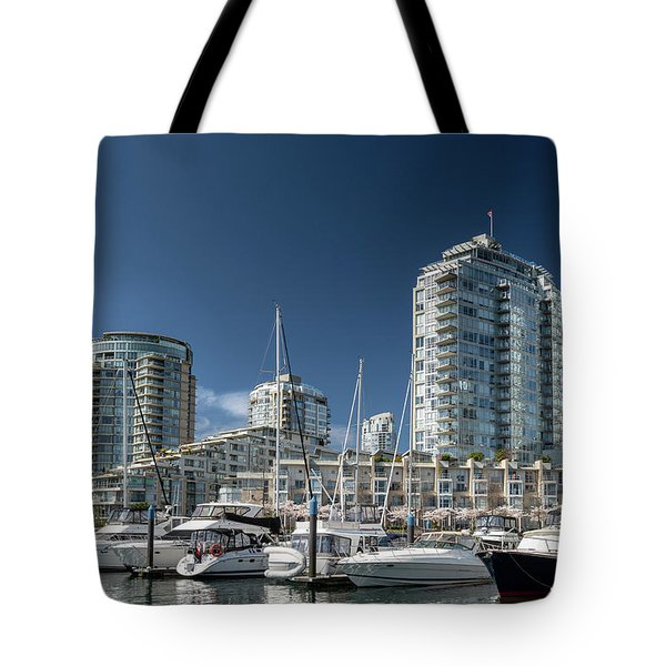 Tote Bag featuring the photograph False Creek by Ross G Strachan