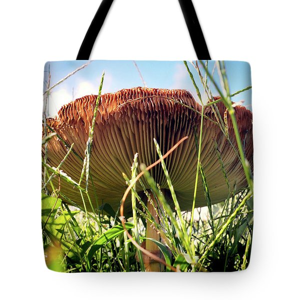 Tote Bag featuring the photograph False Death Cap Gilled Fungi Mushroom by Bill Swartwout Fine Art Photography
