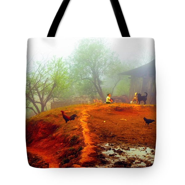 Family On A Hill In Sapa, Vietnam Tote Bag