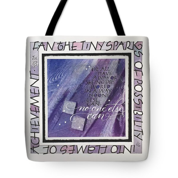 Fan The Sparks Tote Bag