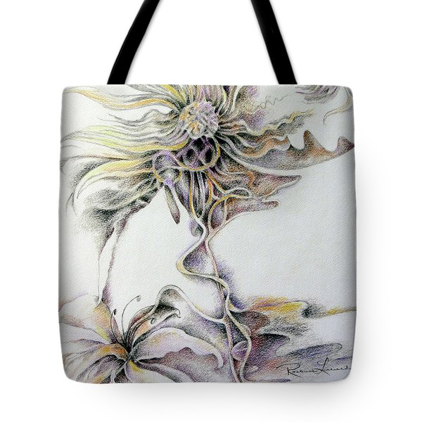 Tote Bag featuring the drawing Fantasy by Rosanne Licciardi