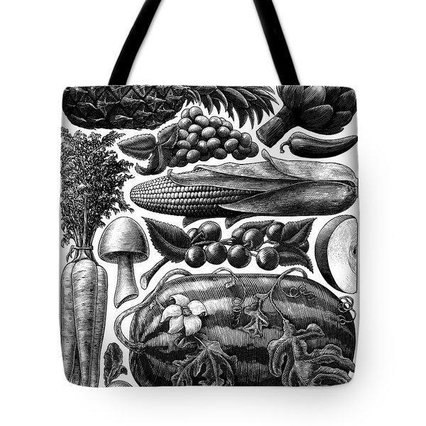 Farmer's Market - Bw Tote Bag