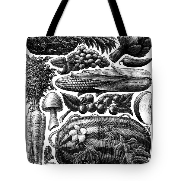 Farmer's Market - Bw Tote Bag