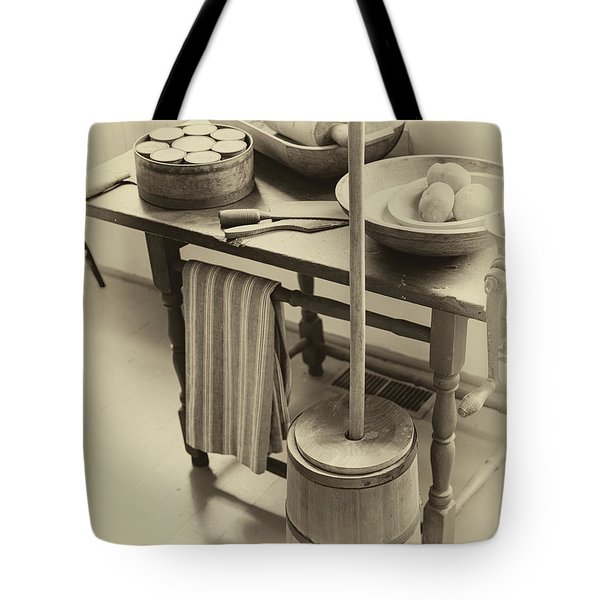 Farmhouse Butter Churn Tote Bag