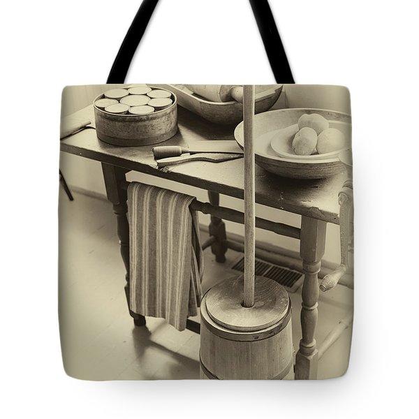 Farmhouse Butter Churn Tote Bag