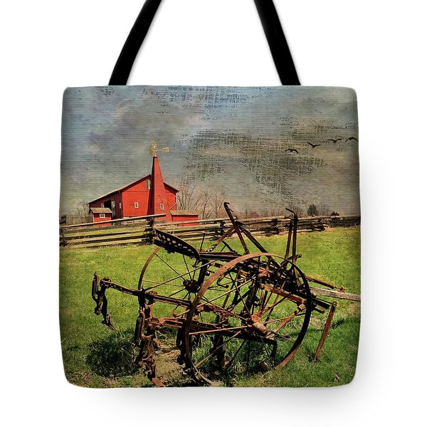 Farming In The 1880s Tote Bag