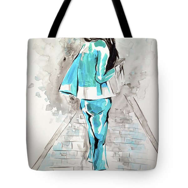Fashion Girl Blue 2018 Tote Bag