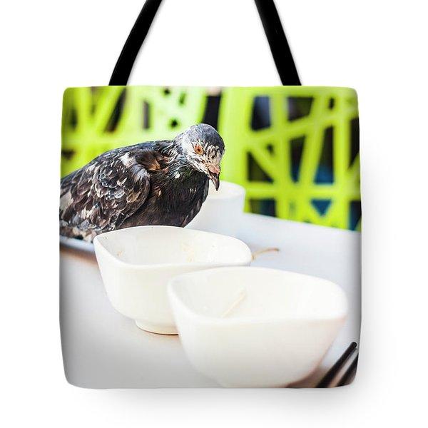 Fast Food Asian Pigeon Tote Bag