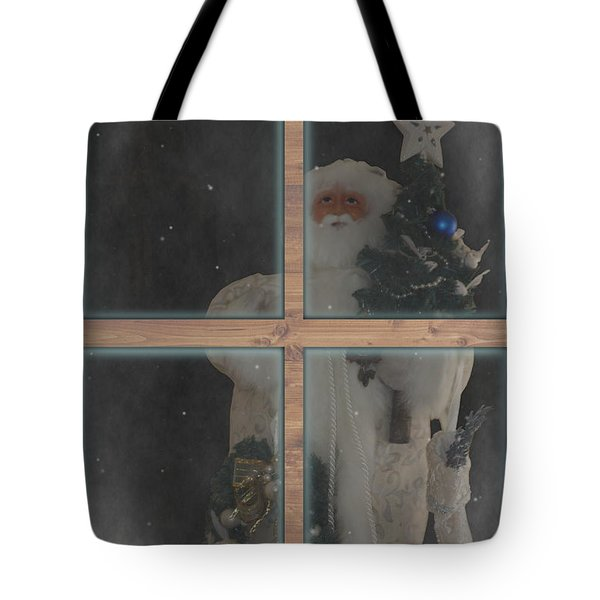 Father Christmas In Window Tote Bag