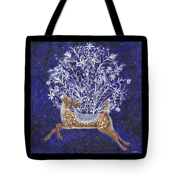 Fawn Bouquet Tote Bag