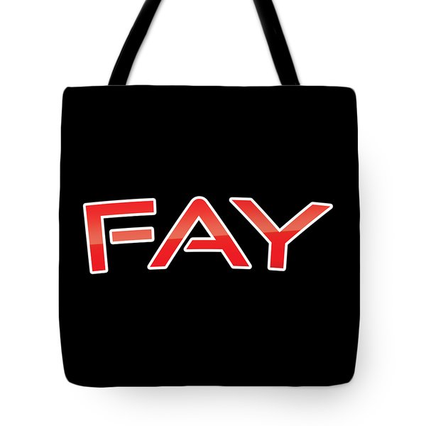 Tote Bag featuring the digital art Fay by TintoDesigns