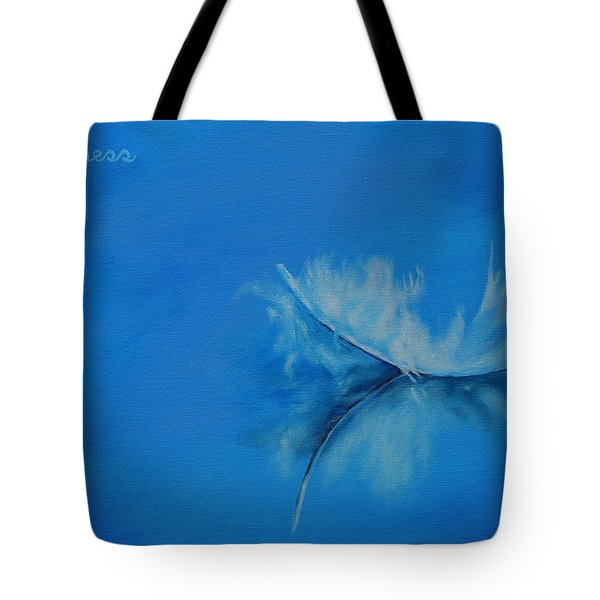 Feather Floating - Stillness Tote Bag