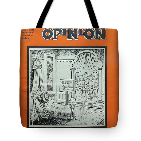Tote Bag featuring the painting Feb1948 Dublin Opinion by Val Byrne