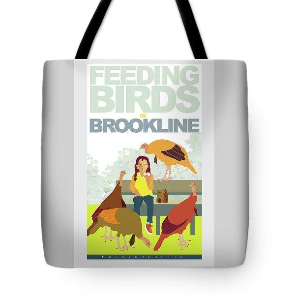 Feeding The Birds Tote Bag