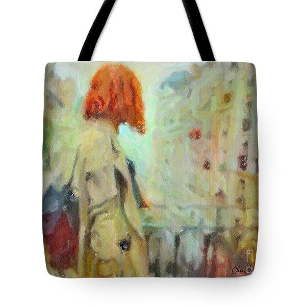 Feel The Rain Tote Bag
