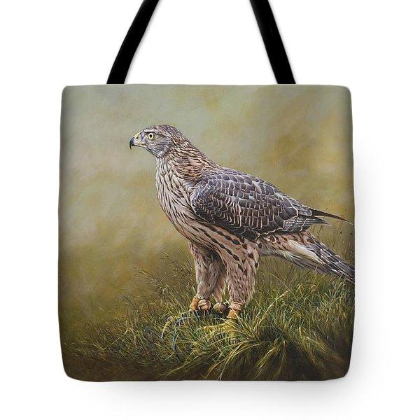 Female Goshawk Paintings Tote Bag