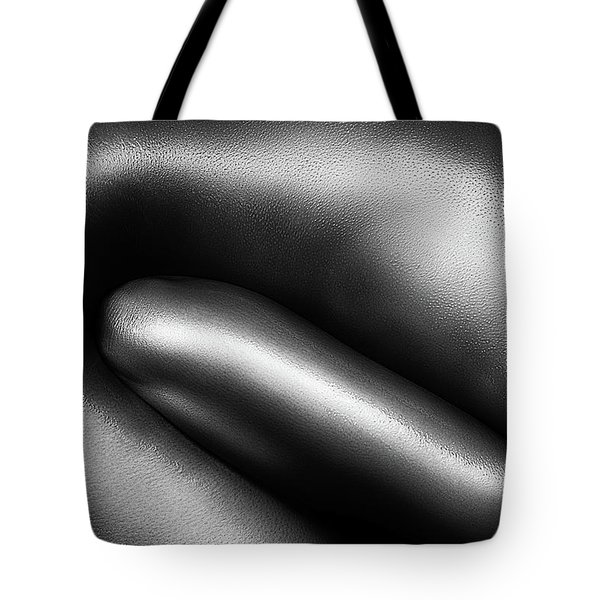 Female Nude Silver Oil Close-up 3 Tote Bag