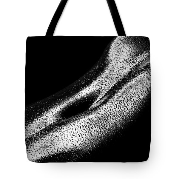 Female Oily Stomach Close-up Tote Bag