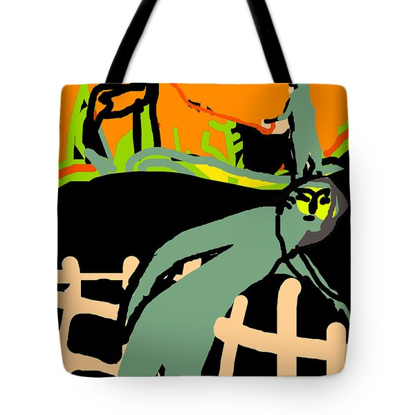 Fence Worker Tote Bag