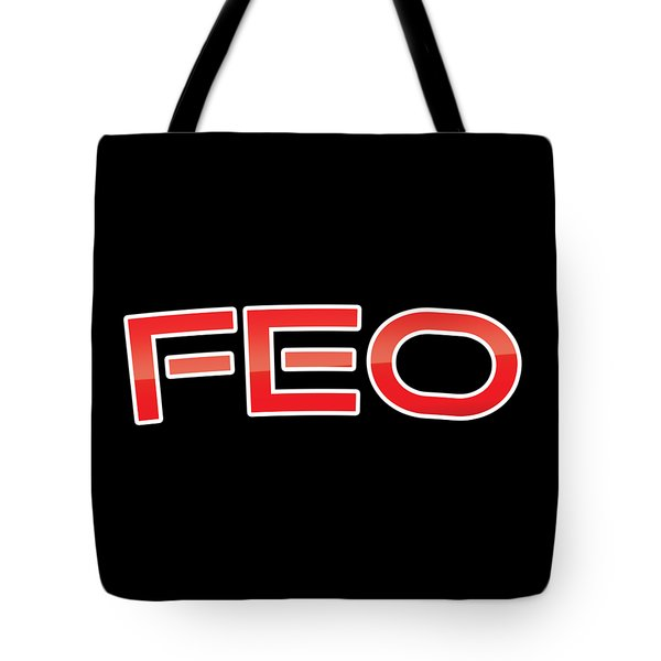 Tote Bag featuring the digital art Feo by TintoDesigns