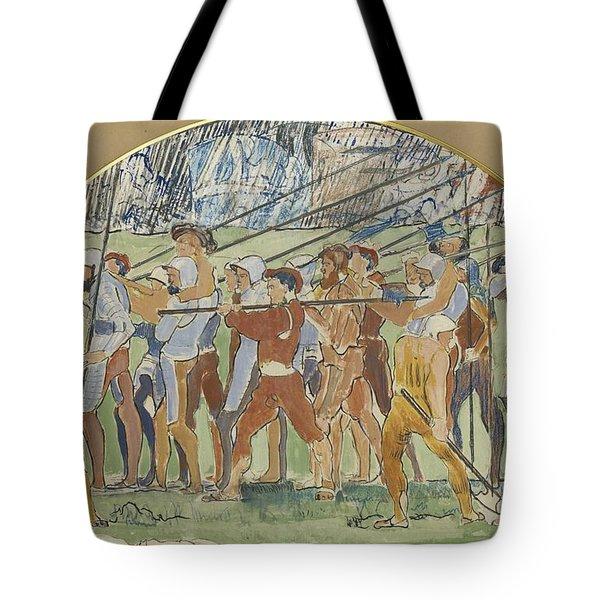 Ferdinand Hodler 1853 - 1918 Retreat Of Marignano, Study To Carton IIi Tote Bag