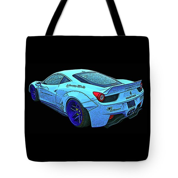 Ferrari 458 Liberty Walk Tote Bag