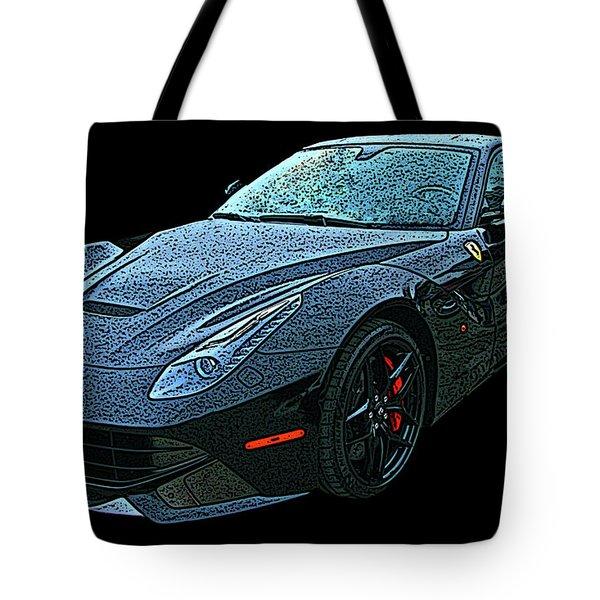Ferrari F12 In Black Tote Bag