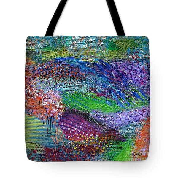 Tote Bag featuring the painting Field Of Color by Corinne Carroll