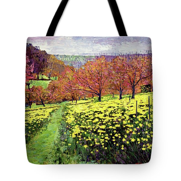 Fields Of Golden Daffodils Tote Bag