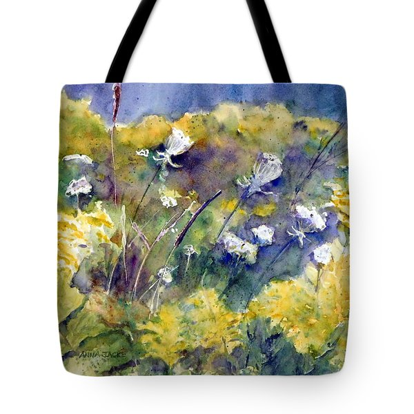 Fields Of White And Gold Tote Bag