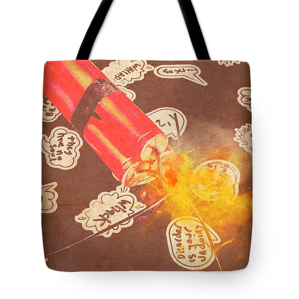 Fiery Fuse Tote Bag