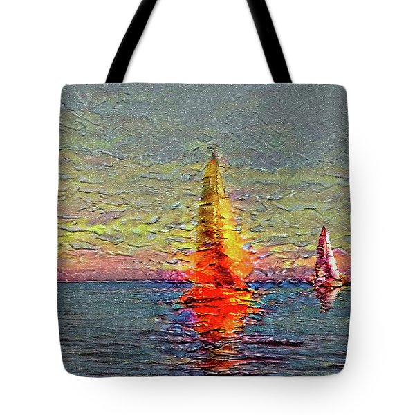 Fiery Kiss Tote Bag