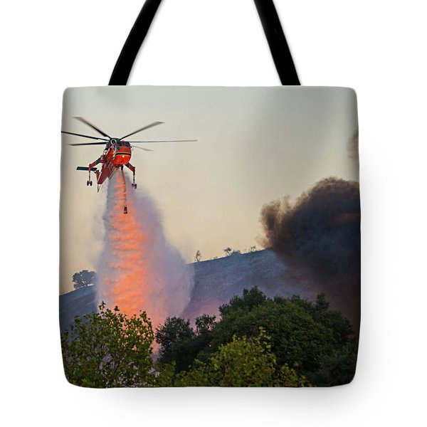 Tote Bag featuring the photograph Fighting Fire With Fire by Lynn Bauer