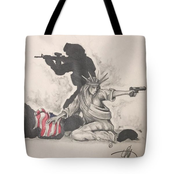 Fighting For Liberty  Tote Bag