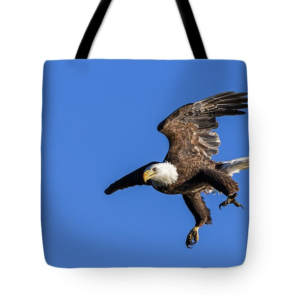 Tote Bag featuring the photograph Final Approach by Lori Coleman