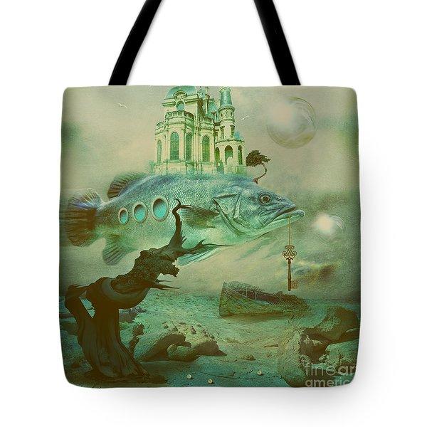 Tote Bag featuring the digital art Finding Captain Nemo by Alexa Szlavics