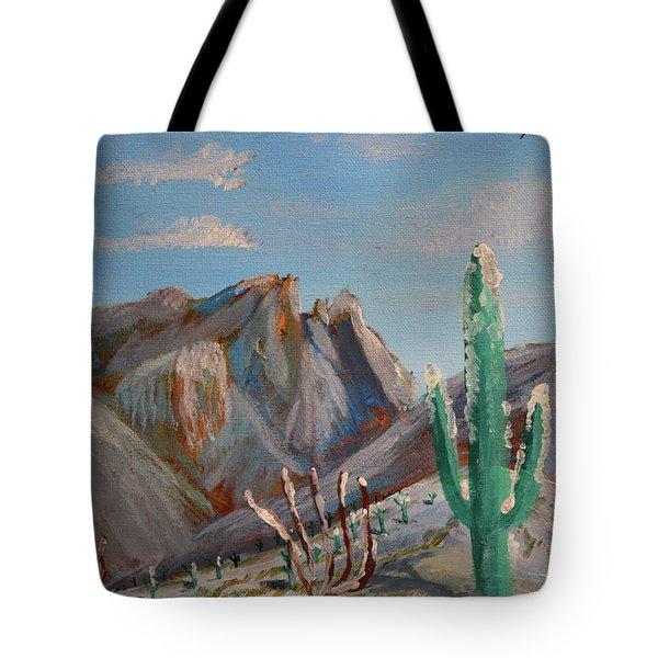 Finger Rock Winter Tote Bag