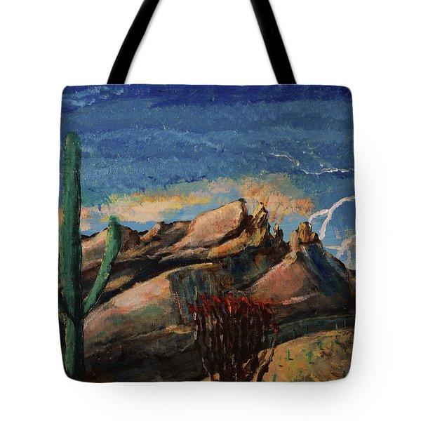 Finger Rock Lightning  Tote Bag