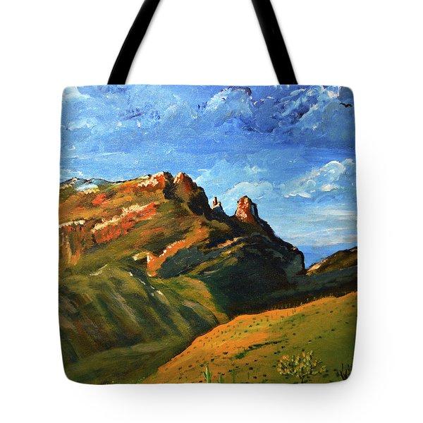 Finger Rock Splendor  Tote Bag