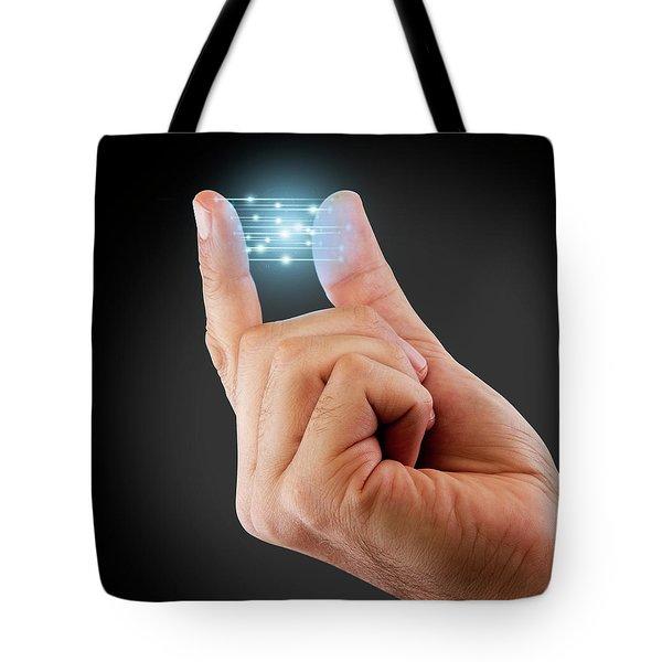 Fingertip Artificial Intelligence Tote Bag