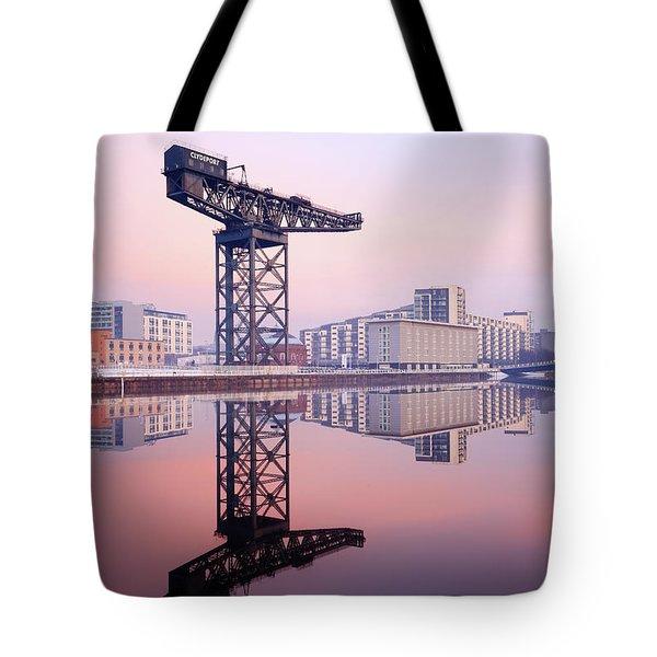 Finnieston Crane Reflection Tote Bag
