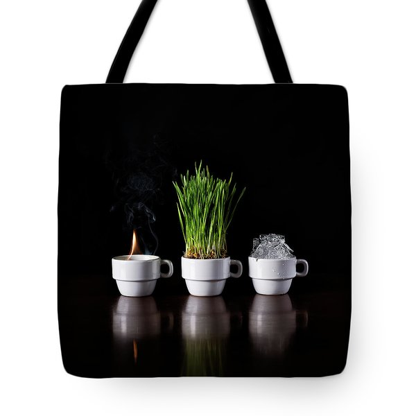 Fire Earth Water Tote Bag