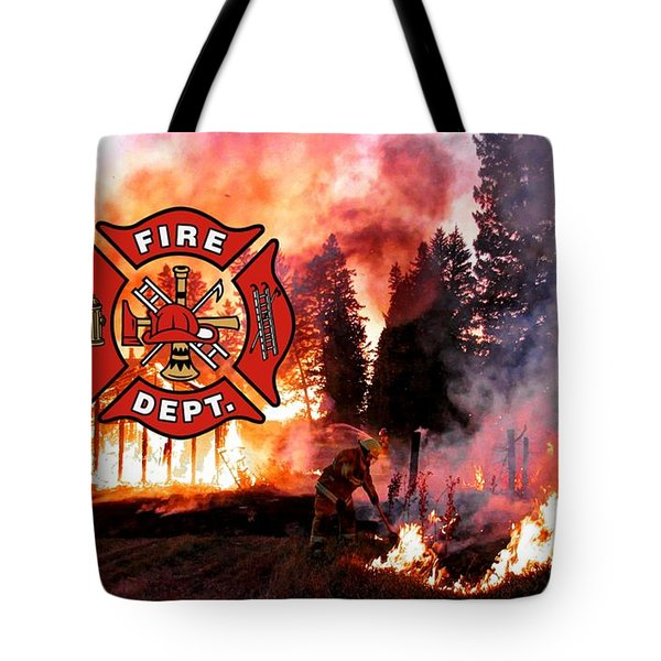 Fire Fighting 3 Tote Bag