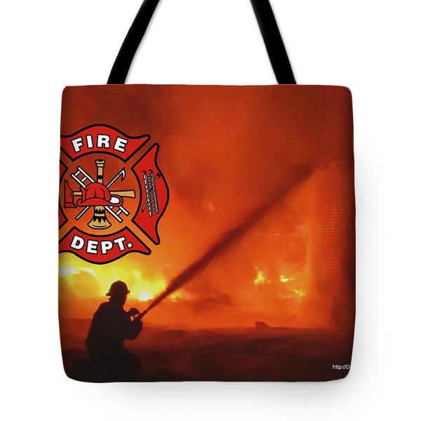 Fire Fighting 5 Tote Bag