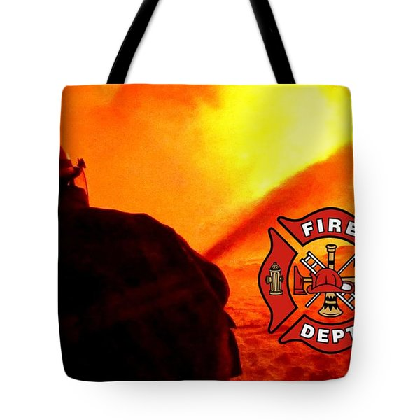 Fire Fighting 6 Tote Bag